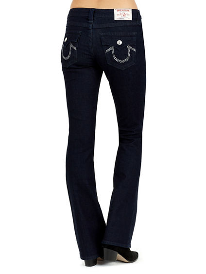 WOMEN'S BOOTCUT CRYSTAL POCKET JEAN