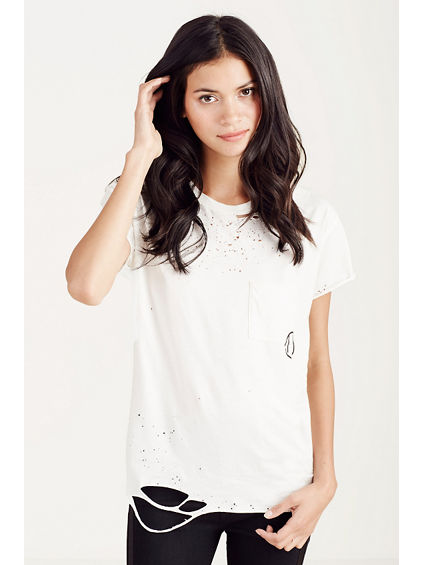 RIPPED POCKET WOMENS TEE