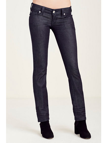 STRAIGHT FLAP LOW RISE WOMENS JEAN