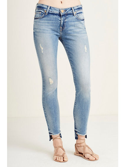 HALLE SUPER SKINNY STEP HEM WOMENS JEAN