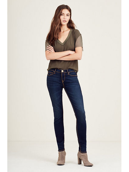 HALLE CABLE STITCH SUPER SKINNY WOMENS JEAN