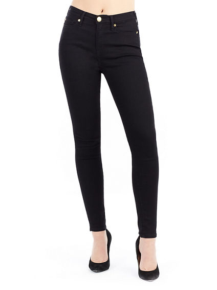 HALLE HIGH RISE SUPER SKINNY WOMENS JEAN | Tuggl