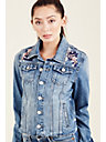 WOMENS EMBROIDERED DANNI DENIM JACKET