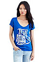 VINTAGE CRYSTAL BUDDHA SS ROUNDED V NECK WOMENS TEE