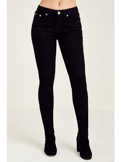 WOMEN'S CURVY SKINNY FIT BLACK JEAN