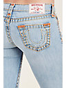 STRAIGHT LET OUT HEM SUPER T RIPPED WOMENS JEAN