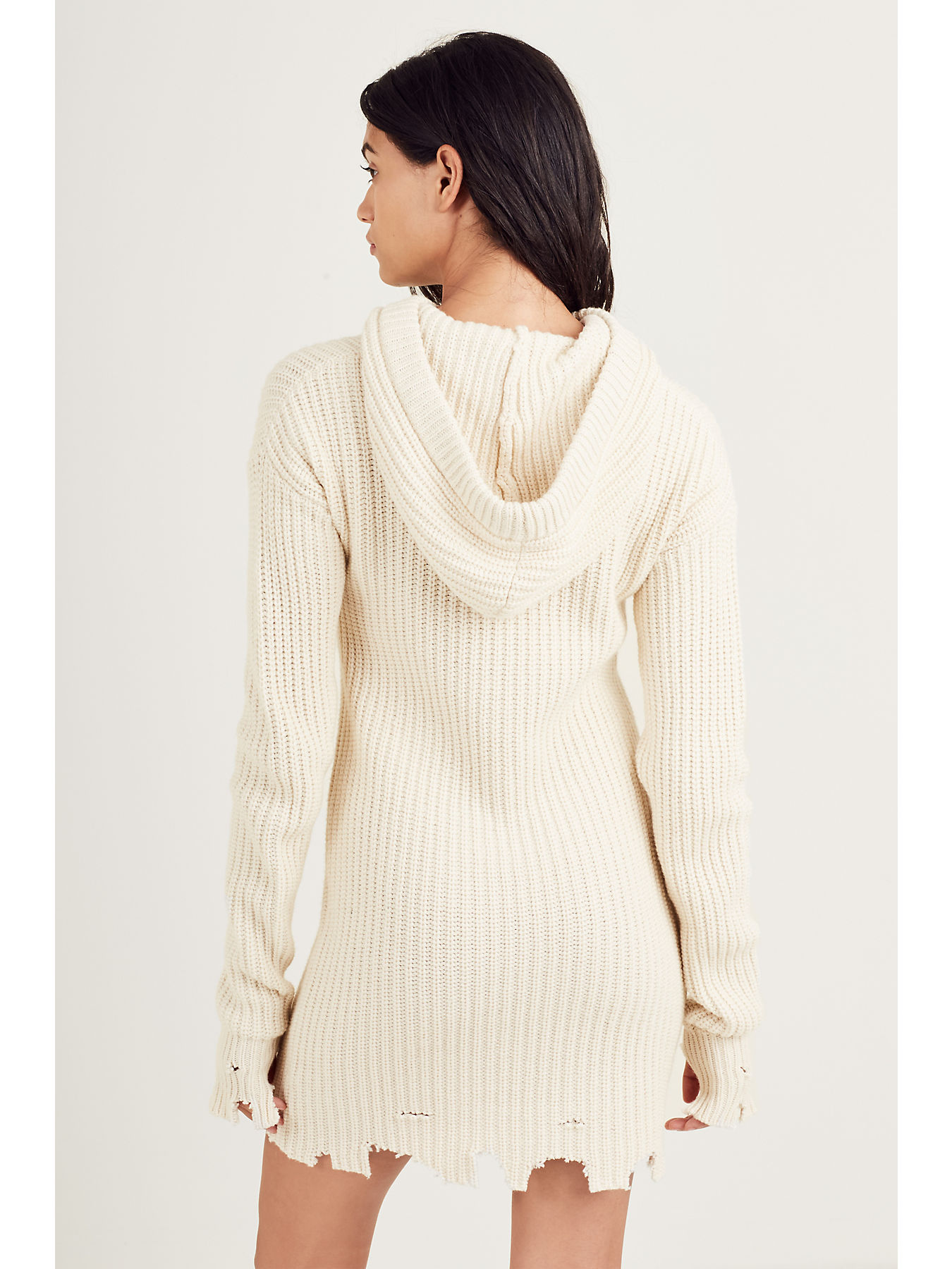 ea93def2086 WOMENS DISTRESSED RIBBED SWEATER DRESS  WOMENS DISTRESSED RIBBED SWEATER  DRESS ...