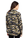 WOMENS EMBELLISHED CAMO UTILITY SHIRT
