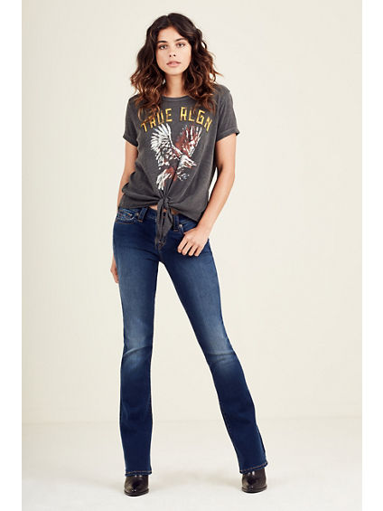 WOMENS AMERICAN EAGLE TIE FRONT TEE