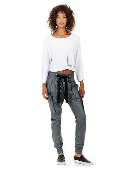 CROPPED LONG SLEEVE  WOMENS TOP