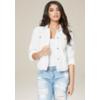 bebe deals on Bebe Womens White Denim Jacket