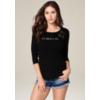 bebe deals on Bebe Womens Logo Crochet Lace Top