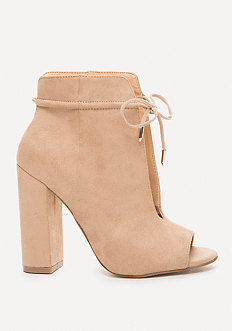 bebe Greer Open Toe Booties