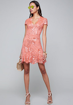 bebe Valorie Embellished Dress