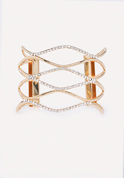 bebe Crystal Wave Cuff