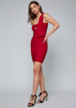 bebe Athens Tie Bandage Dress
