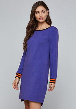 bebe Logo Sweatshirt Dress