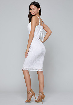 bebe Scallop Midi Dress