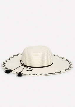 bebe Bow Band Floppy Hat