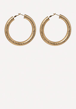 bebe Thick Hoop Earrings
