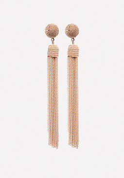 bebe Gold Tassel Earrings