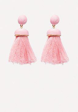 bebe Colorful Tassel Earrings