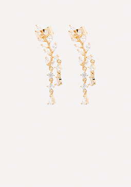 bebe Crystal Drop Ear Crawlers