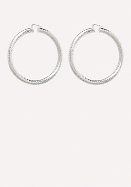 bebe Medium Hoop Earrings