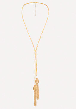 bebe Tassel Lariat Necklace