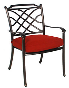 Casual Classics Willowbrook Dining Chair   Meridian Brick   Patio .christysports.com