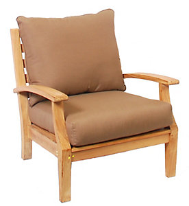 Casual Classics Mulia Teak Jib LIte Club Lounge Chair   Patio .christysports.com