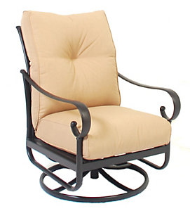 Alu Mont Santa Barbara Swivel Rocking Lounge Chair   Heather Beige   Patio .christysports.com