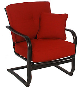 Casual Classics Willowbrook Spring Lounge Chair   Meridian Brick   Patio .christysports.com