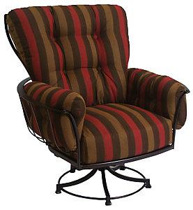 O.W. Lee Monterra Swivel Rocker Lounge Chair   Alcazar Redwood   Patio .christysports.com