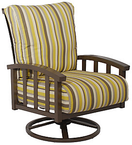 Homecrest Liberty Swivel Rocking Chair   Spotlight Sterling   Patio .christysports.com