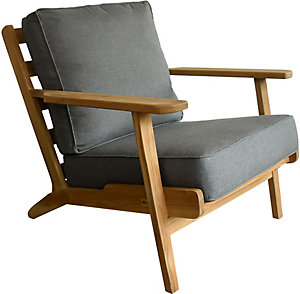 Casual Classics Baltic Lounge Chair W/ Cushion   Cast Slate