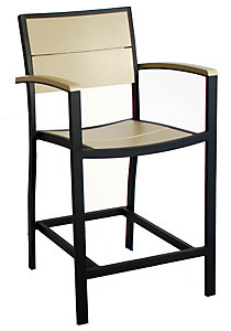 Polywood Metro Counter Height Arm Chair