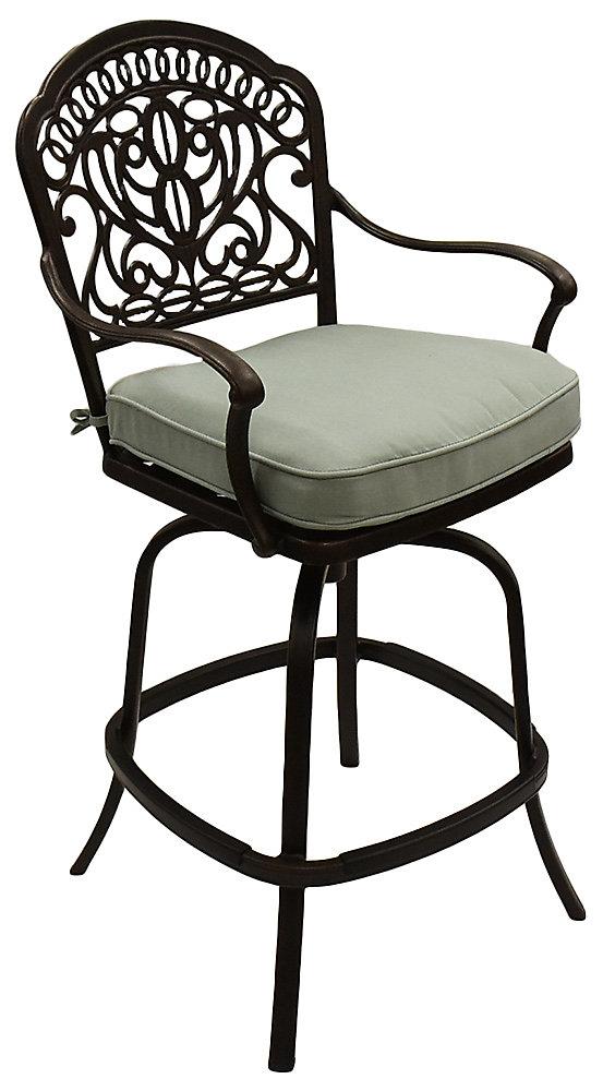 Peachy Hanamint Tuscany Swivel Counter Height Stool Spa Patio Bralicious Painted Fabric Chair Ideas Braliciousco
