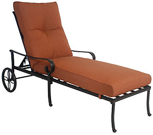 Alu mont santa barbara chaise chilli linen patio for Alu mont