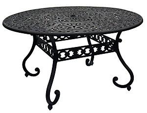 Hanamint Round Sienna Cast Lazy Susan Table Patio - 54 round patio table