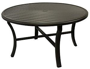 Tropitone 54 Quot Round Banchetto Slat Table Patio