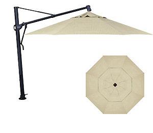 Treasure garden 13 39 cantilever umbrella dupione sand for Treasure garden cantilever umbrella 13