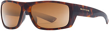 Native Distiller Sunglasses - Matte Dark Tort with Brown Lens