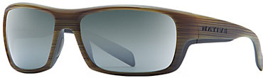 Native Eddyline Sunglasses - Wood with Silver Reflex Lens