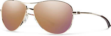 Smith Langley Sunglasses - Gold with Rose Gold Mirror Lens