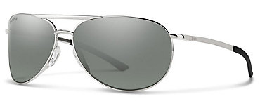 Smith Serpico Slim 2.0 Silver/ChromaPop Polarized Platinum Sunglasses