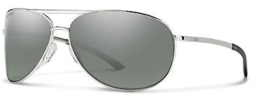 Smith Serpico 2.0 Silver/ChromaPop Polarized Platinum Sunglasses