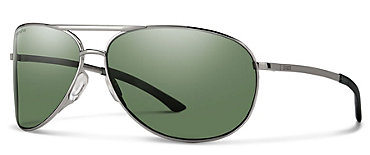Smith Serpico 2.0 Gunmetal/ChromaPop Polarized Gray Green Sunglasses
