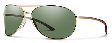 Smith Serpico 2.0 Gold/ChromaPop Polarized Gray Green Sunglasses