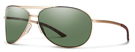 fde01a4444 Smith Serpico 2.0 Gold ChromaPop Polarized Gray Green Sunglasses